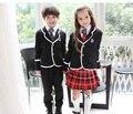 5 UNIDS Kindergarten Uniforme Uniforme Escolar de Los Niños Británicos de Manga Larga para Niño Ropa Coro de Estudiantes de La Escuela Primaria 18