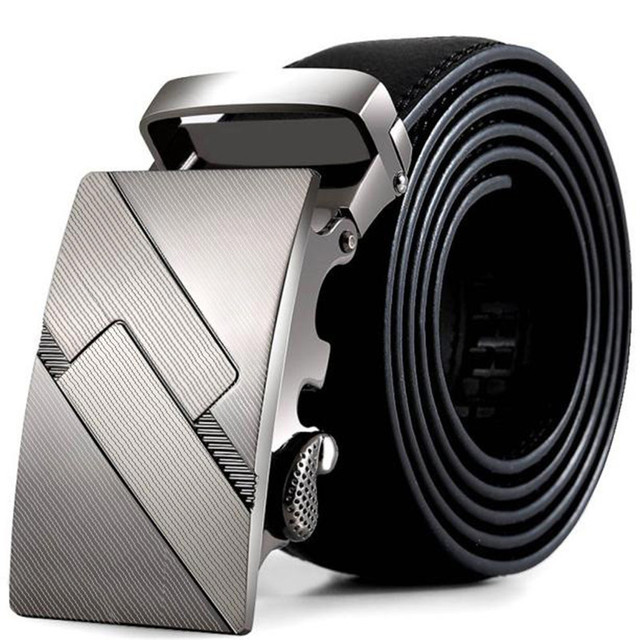 Automatic Buckle PU Leather Belt For Men