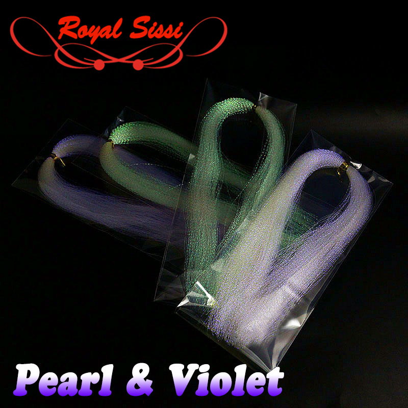 New 4packs pearlescent & violet flash twisted tinsel Trout Bass streamer fly tying material Sabaki lure fishing lure decoration бутылка 0 4 л asobu ice t 2 go фиолетовая it2go violet