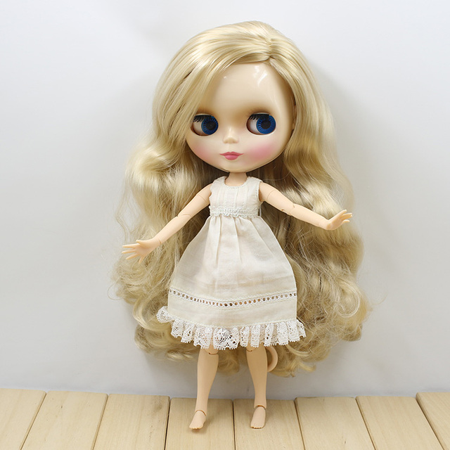 Factory Neo Blythe Doll Blonde Hair Jointed Body 30cm