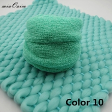 Handmade Receiving Blanket(45*40cm)with High Streched Wraps(Full Set)for Newborn Baby Photography Props Top Layer Basket Filler