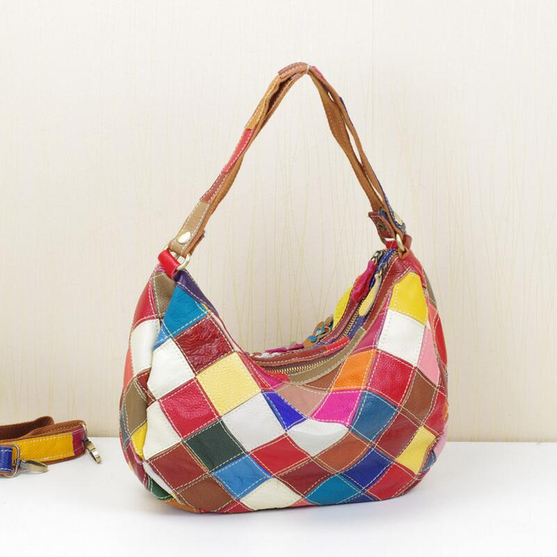 Women\'S Shoulder Bags Designer Cow Leather Flower Handbags Bolsos Mujer Casual Messenger Bags