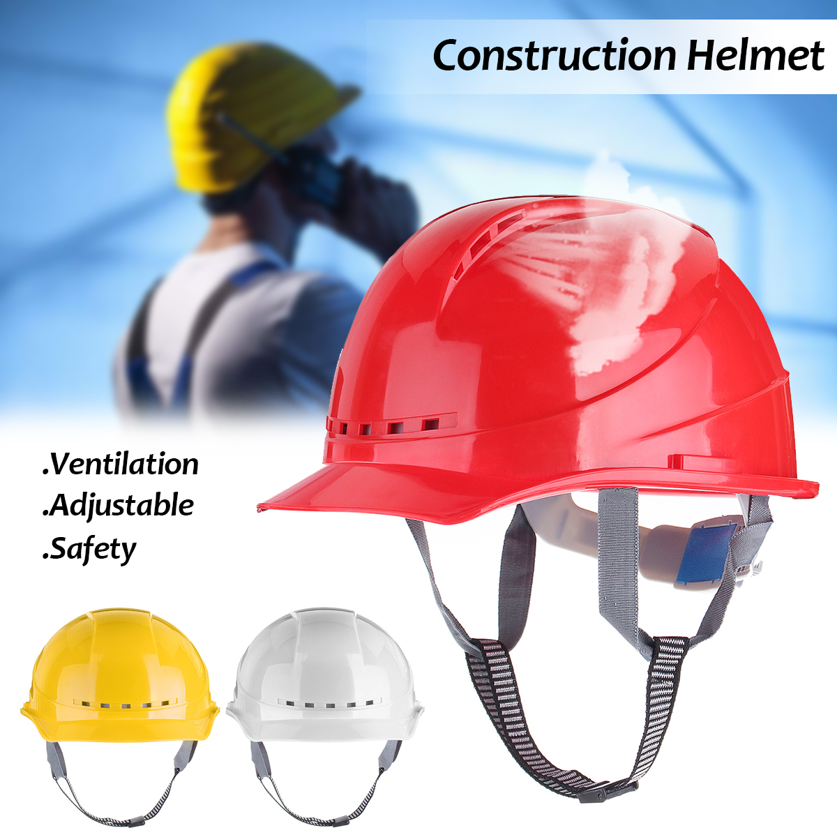 Safety Helmets Hard Hats Contruction Protector Wide Brim Hat Work Cap ABS Material Protective Helmet Breathable Engineering wide brim straw hat