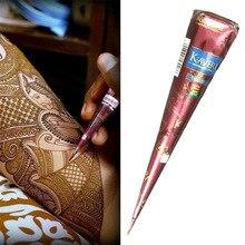 Черная коричневая хна конусы индийская Хна тату паста для Временной Татуировки боди-арт наклейка натуральная краска для тела тату хна конусы