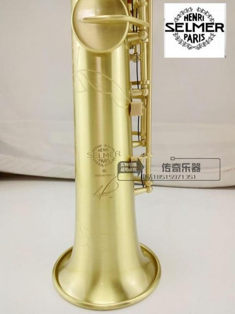 Cheap 2016 DHL free shipping high quality selmer54 / B flat Soprano Saxophone wind drawing carving