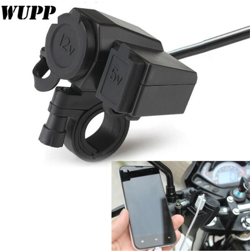 WUPP 2.1A Waterproof Motorcycle USB Cell phone GPS Cigarette Lighter USB port integration Charger