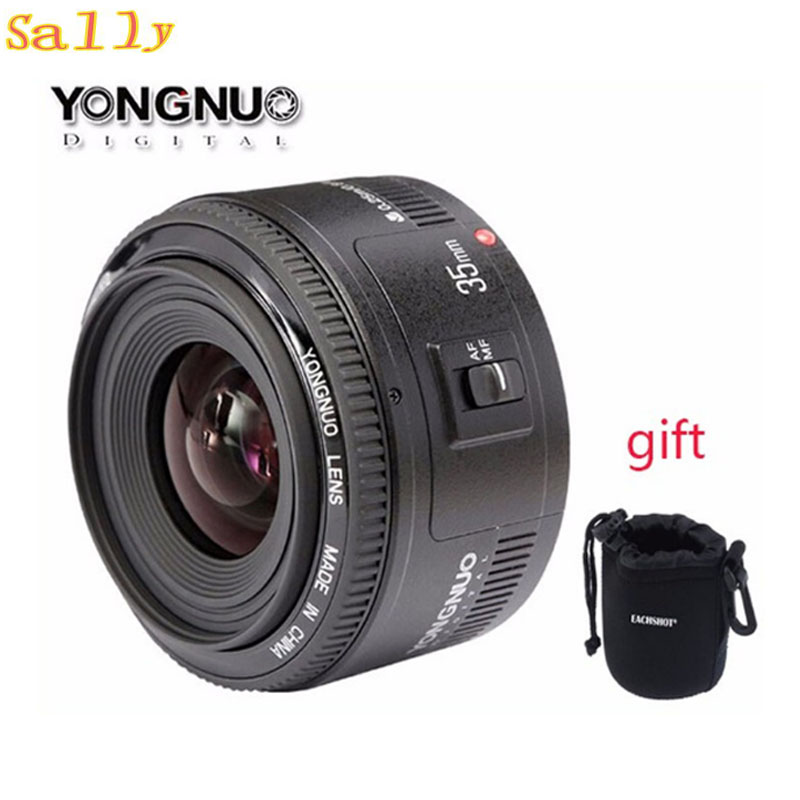 Yongnuo 35mm lens YN35mm F2 lens Wide-angle Large Aperture Fixed Auto Focus Lens For canon EOS Cameras yongnuo yn35mm f2 1 2 af mf wide angle aperture fixed prime auto focus lens for nikon d7100 d3200 d3300 d3100 d5100 d90 dslr