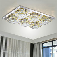 Modern Crystal LED Ceiling Lights Fixture Indoor Lamp Lamparas De Techo Lustres Led Ceiling Lamp Bed
