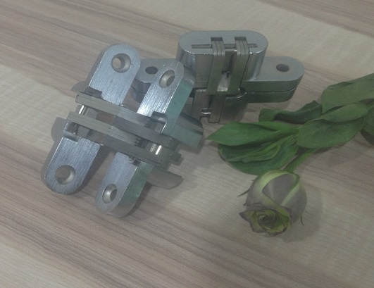 9pcs/Lot 16*70mm Conceal Hinges For Folding Sliding Door Mortise 180 Degree Turning Concealed Cross Hinge