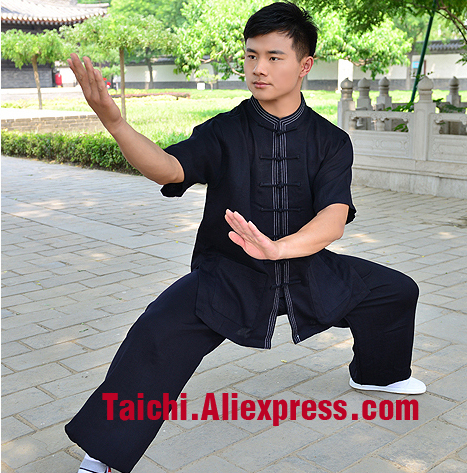 Short sleeved summer tai chi clothing half sleeve   cotton and linen Tai Chi clothes   Kungfu Clothing Wushu-clothingShort sleeved summer tai chi clothing half sleeve   cotton and linen Tai Chi clothes   Kungfu Clothing Wushu-clothing
