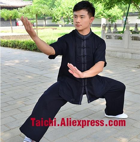 Short Sleeved Summer Tai Chi Clothing Half Sleeve   Cotton And Linen Tai Chi Clothes   Kungfu Clothing Wushu-clothing