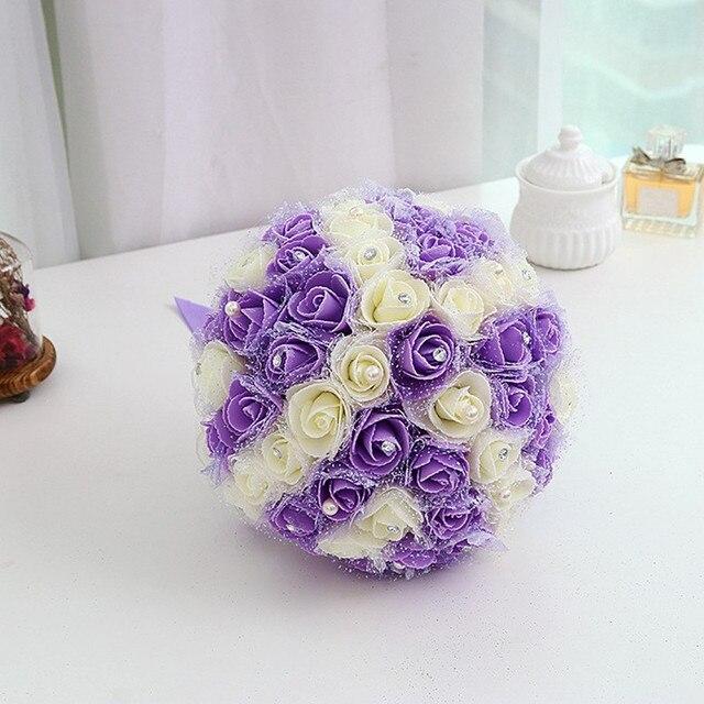Ручной люкс букет роз пэ buque де noiva свадебные цветы свадебные букеты pristian zouboutin