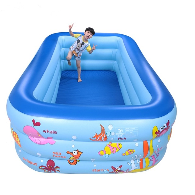 Toddler Inflatable Square Plastic Swimming Pool 18014060cm
