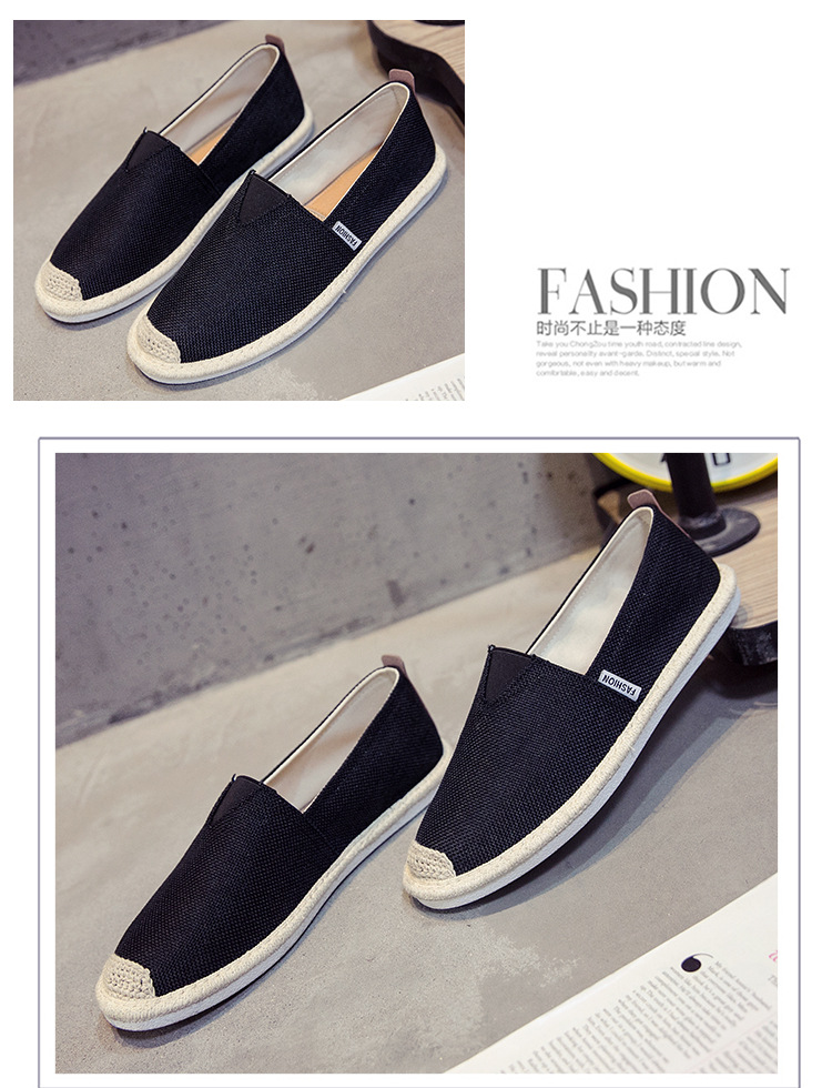HTB1CWEHNQvoK1RjSZFwq6AiCFXaL UPUPER Breathable Linen Casual Men's Shoes Old Beijing Cloth Shoes Canvas Summer Leisure Flat Fisherman Driving Shoes Wicking