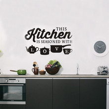 цена на Fashion Elements Kitchen Restaurant Creative Carved Wall Stickers Removable Decoration Gift DIY Decal LW62