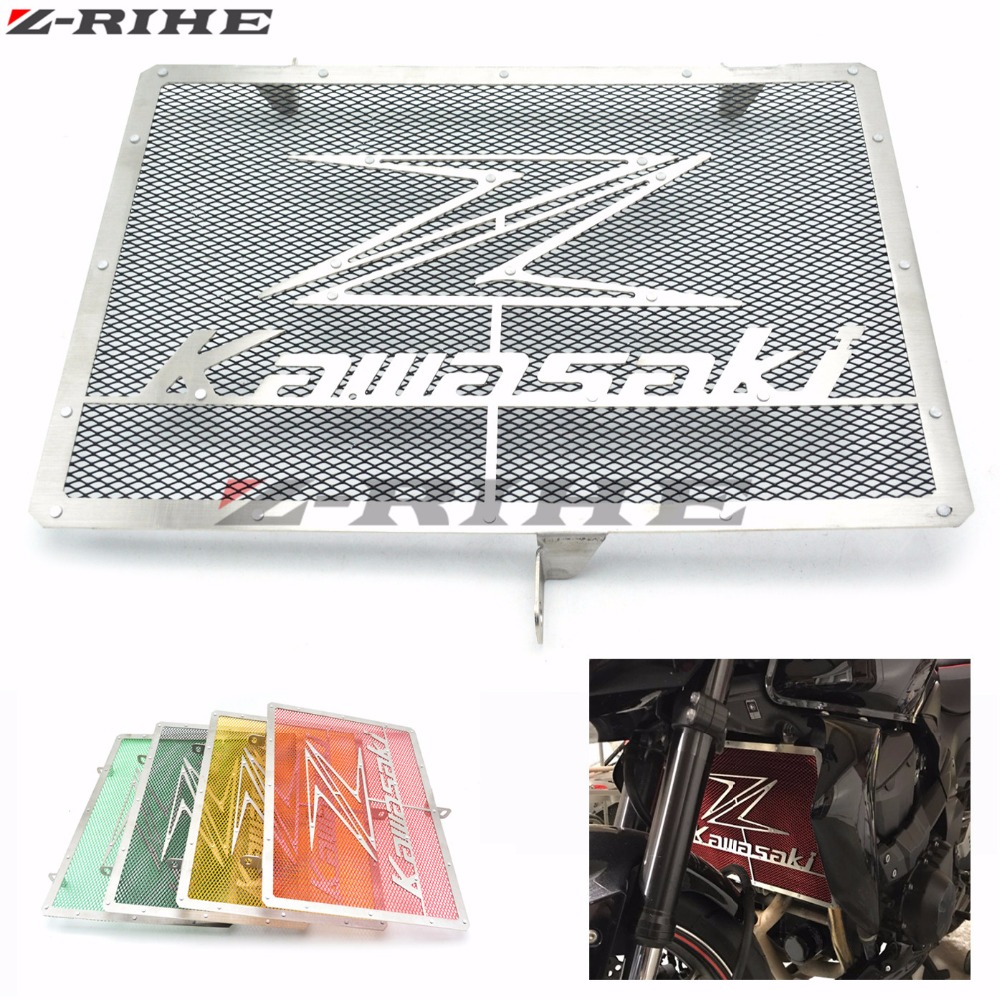 Motorcycle Radiator Grille Guard Cover Cooler Guard Protector For Kawasaki Z750 Z1000 2007-2015 2014 2013 2012 2011 2010 2009 motorcycle radiator grille grill guard cover protector 2 color options for kawasaki zx6r 2009 2010 2011 2012 2013 2014 2015