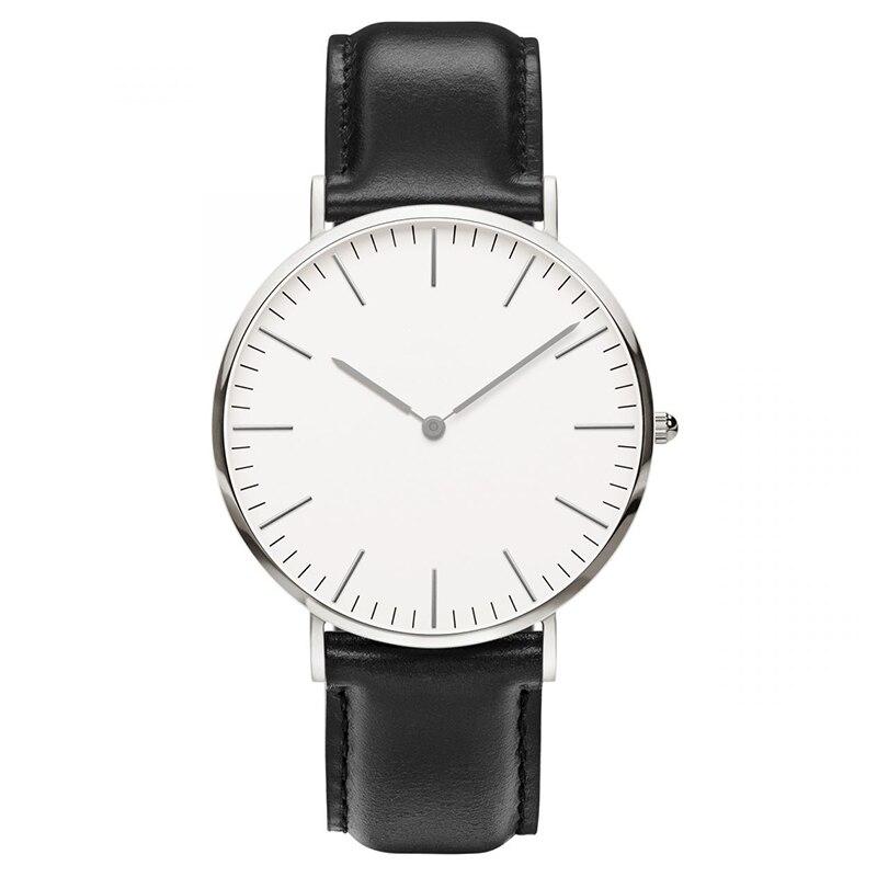 Marca de lujo de acero para hombre pulsera de moda reloj de cuarzo de plata de oro rosa hombre dw reloj de estilo de los hombres vestido reloj 40mm relogio femenino