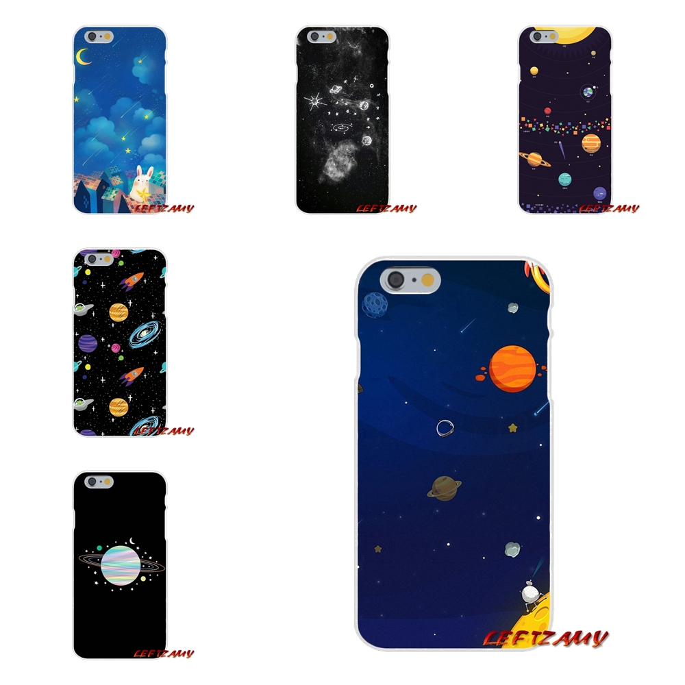 Half-wrapped Case Faithful Phone Cover For Sony Xperia M2 M4 M5 E3 Xa Aqua Z Z1 Z2 Z3 Z5 Compact Lg K4 7 8 10 V20 V30 2017 Cartoon Glossy Moon Stars Cosmos Strengthening Waist And Sinews Phone Bags & Cases