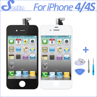 30pcs Lot No Dead Pixel Screen For IPhone 4 A1332 4S LCD Display With Digitizer