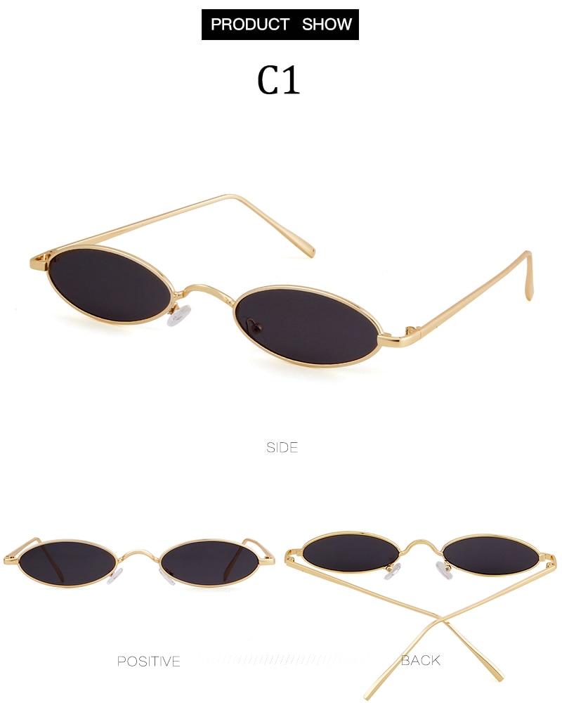 STORY 2018 Vintage Retro Oval Pequeno Homem Óculos de Sol Mulheres Designer  de Marca 90 s Magro Matiz Lente Clara Óculos de Sol Vermelho tons b96ed18c97