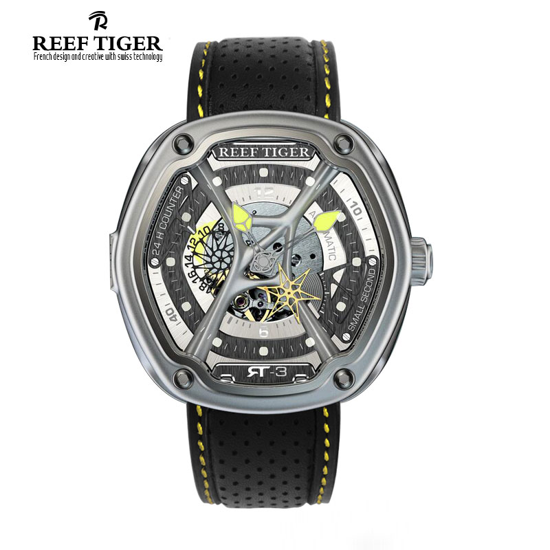 Reef Tiger/RT Enjoy Your Live Style Dive Watch Luminous Top Brand Automatic Watches Nylon/Leather/Rubber Available RGA90S7 reef tiger rt top brand automatic watches enjoy your live style dive watch luminous nylon leather rubber watches rga90s7