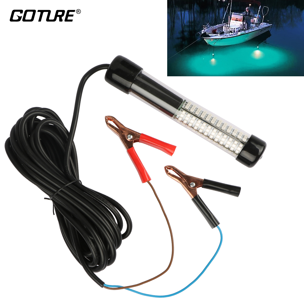 Goture Fishing Light 12V 10.8w LEDs Submersible With 5m/ 5.47yd Cord White, Blue, Green Fishing Accessories fishing rod plastic spring cord w keyring blue