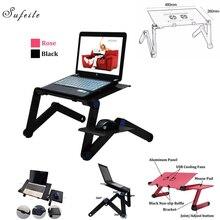 Больше Портативный ноутбука складной стол ноутбук двойной вентилятор стол 480 мм кровать диван лоток 360 rolling регулируемый стол компьютерный стол ba50