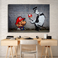 Super Mario Tapete HD Wand Kunst Leinwand Poster Drucke Malerei Wand Bilder Für Büro Wohnzimmer Home Decor Kunstwerk-in Malerei und Kalligraphie aus Heim und Garten bei