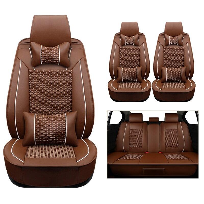 (Cuir + soie) housses de siège de voiture pour Land Rover Discovery 3/4 freelander 2 gamme Sport Sport Evoque accessoires voitures-style auto - 5
