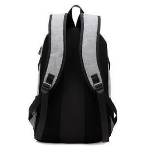 Image 5 - Kobiet i torba męska 2020 nowych moda wielofunkcyjne usb plecak na laptop z ładowaniem mężczyźni torba studencka kobiet jednolity kolor plecaki damskie