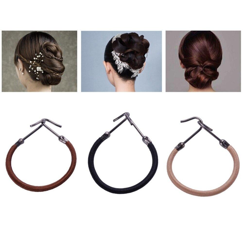 Hair Styling Gum: 5pcs Elastic Hair Bands Gum Hook Ponytail Holder Bungee