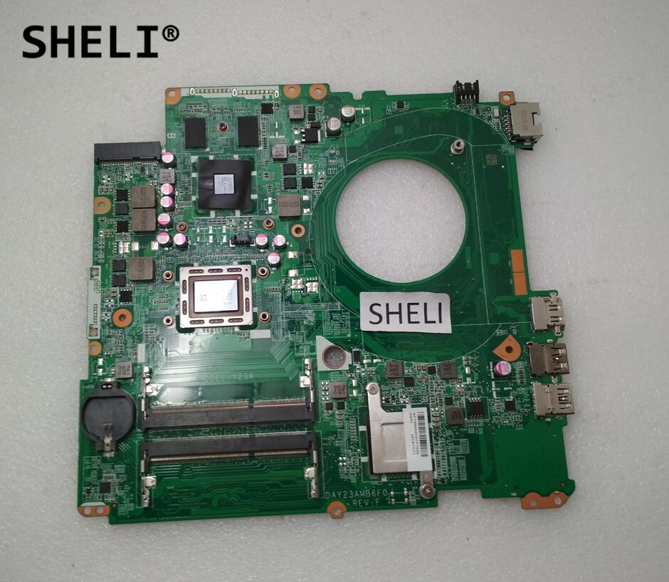 SHELI For HP 17 17-F Motherboard with A10-5745M DAY23AMB6F0 763428-501 763428-001 nokotion laptop motherboard for hp pavilion 17 17 f a10 5745m day23amb6f0 763428 501 763428 001 graphics 260m 2gb