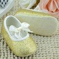 2017 Baby Toddler Prewalker Soft Sole Crib Shoes Infant Girls Ribbon Anti-slip Shoes  New Arrival