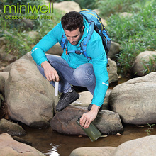 Фотография Survival and safety collapsible water filter bottle 2-stage filtration system for traveling camping hiking