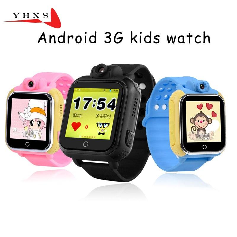 ФОТО 720P Smart Safe 3G WCDMA Remote Camera GPS WIFI Location Tracker SOS Monitor Child Elder Kids Watch Wristwatch 1.54 Touch Screen