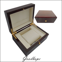 High Grade Red Painted Wood Watch Box Bracelet Jewelry Display Cases For All Brand Logo Watches