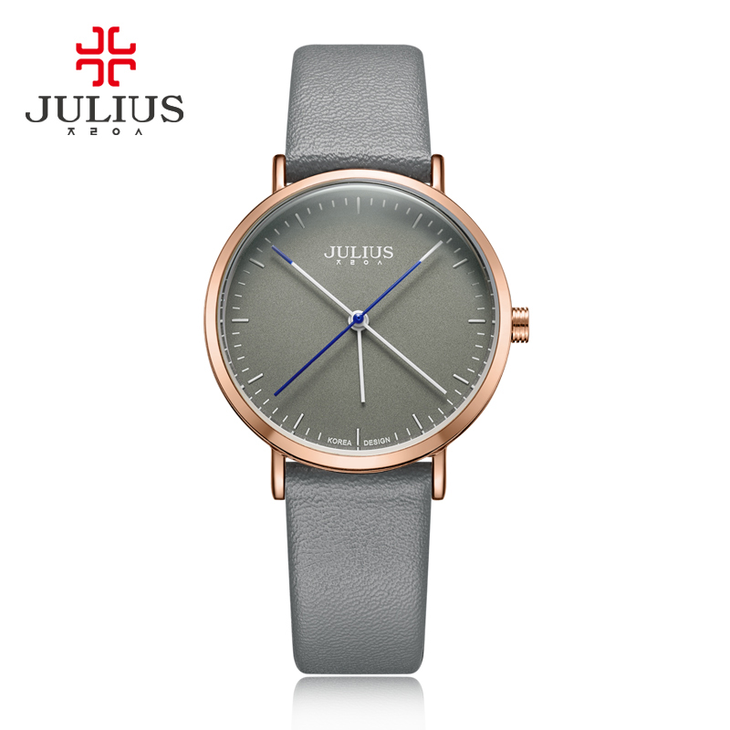 New Julius Lady Women's Watch Japan Quartz Fine Big Simple Fashion Hours Dress Bracelet Leather School Girl Birthday Gift Box new simple cutting glass women s watch japan quartz hours fashion dress stainless steel bracelet birthday girl gift julius box