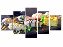 5 Pieces Factory wholesale Sushi food poster Art Print Poster Wall Picture Canvas Painting Framed Home Decor/still life-21