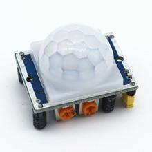100 pces HC SR501 ajustar ir piroelétrico infravermelho pir sensor de movimento detector módulo