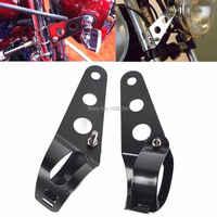 35 ~ 43mm Motorrad Scheinwerfer Montage Halterung Silber/Schwarz Kopf Lampe Halter Gabel für Chopper Bobber Cafe Racer für Harley Honda