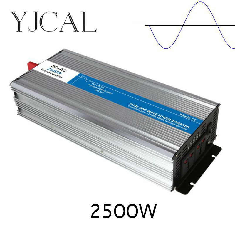 Pure Sine Wave Inverter 2500W Watt DC 12V To AC 220V Home Power Converter Frequency USB Converter Electric Power Supply