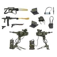 Alien vs Predator Action Figures Weapon Machine Gun Anime Alien Weapon Package Toys Alien vs Predator