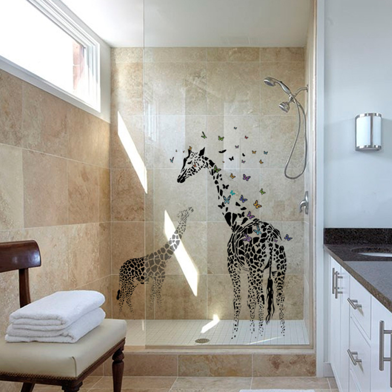 Giraffe butterfly silhouette modern living room entrance hall ...