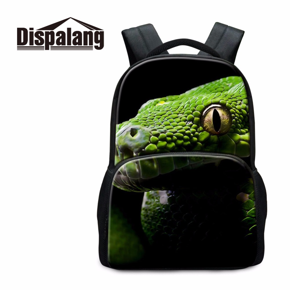 Dispalang Animal Printed Male Computer Backpack College Laptop Shoulder Bags Kids Best Schoolbags 17 Inch Travel Bag Knapsack