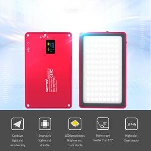 Image 3 - Ultra Dünne Aluminium Dimmbare OLED Display 96 Pcs LED Video Licht mit Batterie CRI96 + Bi Farbe für DSLRs als Aputure AL MX Iwata