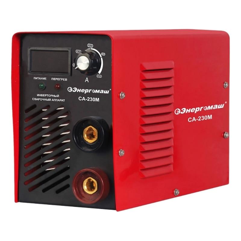 Аппарат сварочный инверторный Энергомаш СА 230М (Мощность 4100 Вт, Диапазон тока от 20 до 230 А, диаметр электрода 2 5 мм, ремень для транспортировки) Сварочные аппараты    АлиЭкспресс