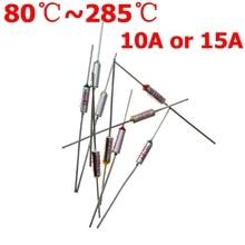 RY TF 15A 10A 250 в тепловой предохранитель электрическая температура 80C 100C 121C 240C 216C 192C 172C 167C градусов Цельсия предохранитель тепловой отсечки