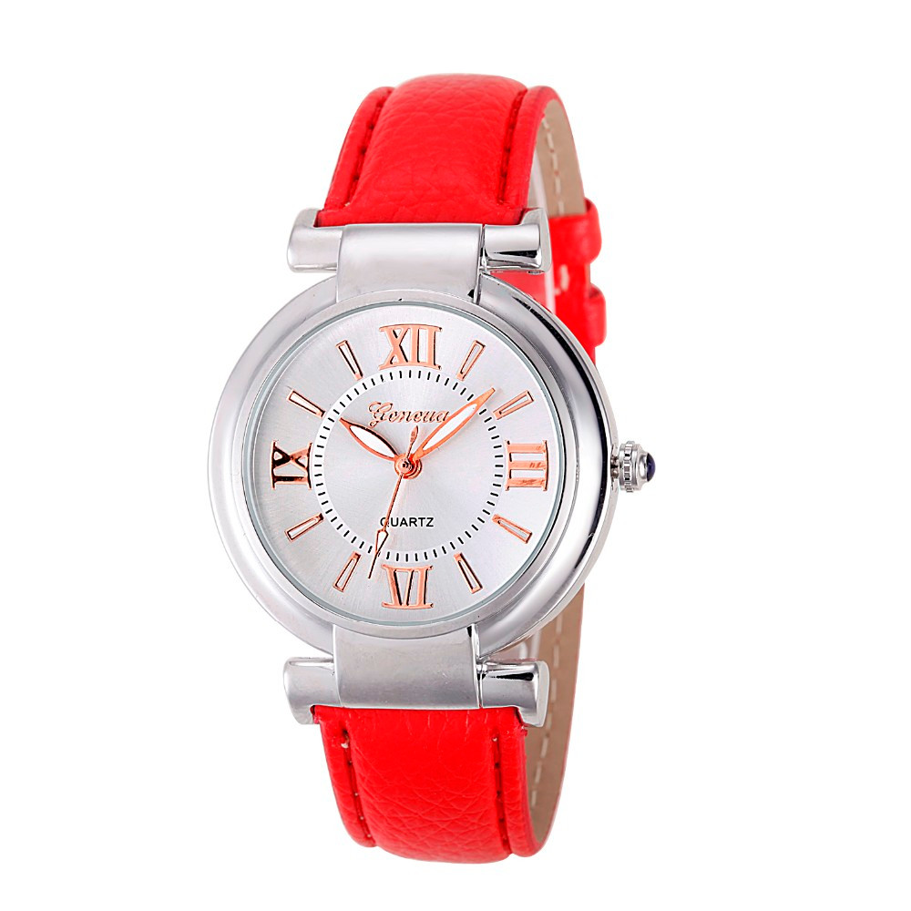 2017 new top brand watch women fashion ladies designer Leather Band bracelet watches Analog Quartz Vogue Wrist Watch luxury#20 new fashion women retro digital dial leather band quartz analog wrist watch watches wholesale 7055