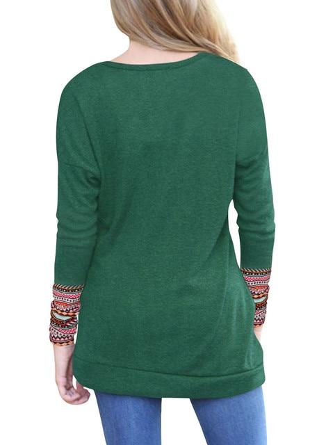 O-Neck Long Sleeve T-Shirt  3
