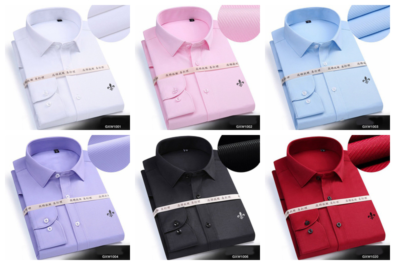 Autumn casual fashion long sleeved solid color shirt men